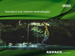 """Arpack Air Clean"" oro valymo sistemos katalogas"