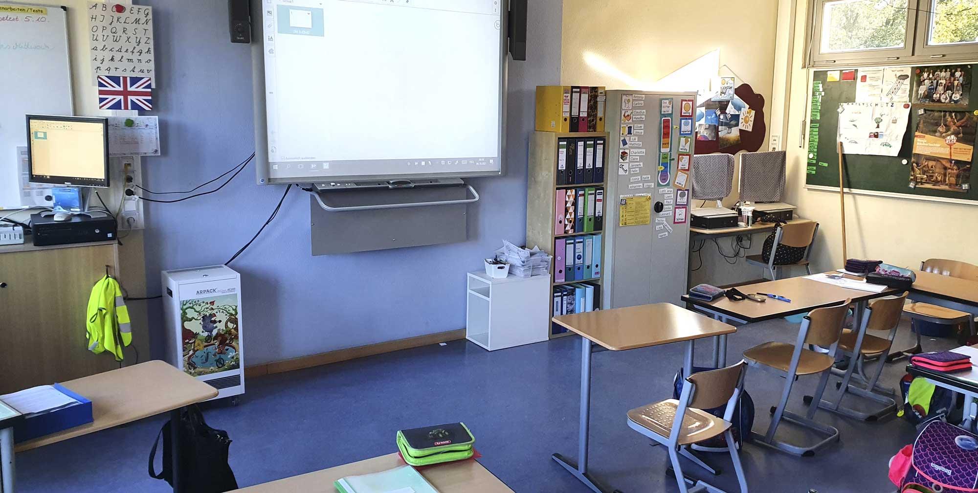 Mühlenau Grundschule Arpack Luftreinigungsgeräte AC200